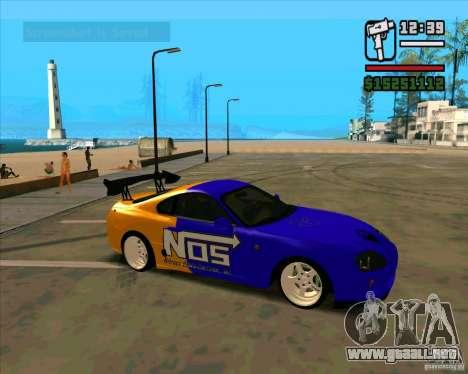 Toyota Supra Drift para GTA San Andreas left