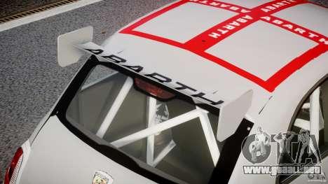 Fiat 500 Abarth para GTA 4 vista desde abajo