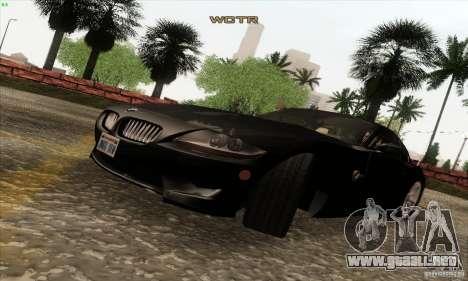 BMW Z4M para GTA San Andreas vista hacia atrás