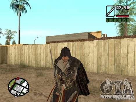 Espada Ezio para GTA San Andreas quinta pantalla