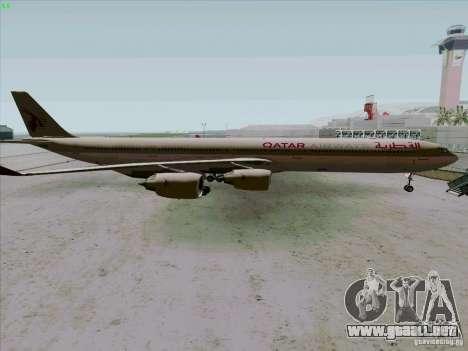 Airbus A-340-600 Quatar para GTA San Andreas left