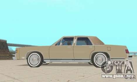 Mercury Grand Marquis LS 1986 para la visión correcta GTA San Andreas