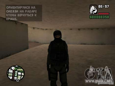Umbrella soldier para GTA San Andreas