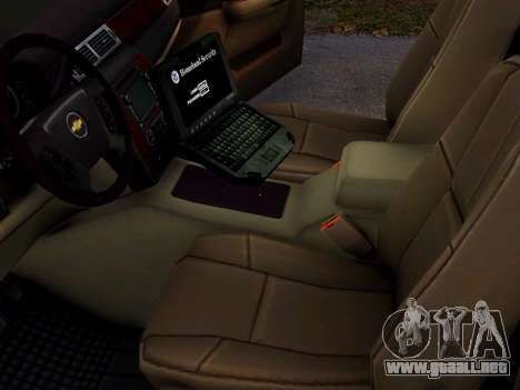 Chevrolet Tahoe Homeland Security para GTA 4 vista hacia atrás