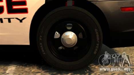 Dodge Charger RT Max Police 2011 [ELS] para GTA 4 vista desde abajo