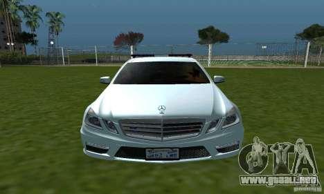 Mercedes-Benz E63 DPS para visión interna GTA San Andreas
