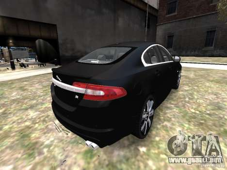 Jaguar XFR para GTA 4 vista hacia atrás