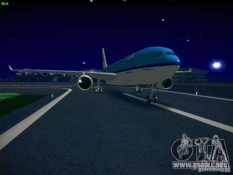 Airbus A330-200 KLM Royal Dutch Airlines para GTA San Andreas vista posterior izquierda