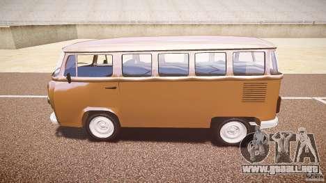 Volkswagen Kombi Bus para GTA 4 vista hacia atrás