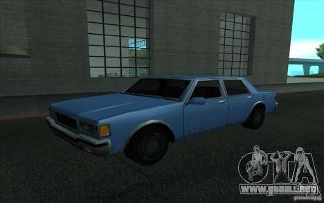 Civilian Police Car LV para GTA San Andreas