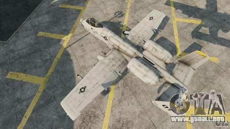 A-10A Thunderbolt II para GTA 4 visión correcta