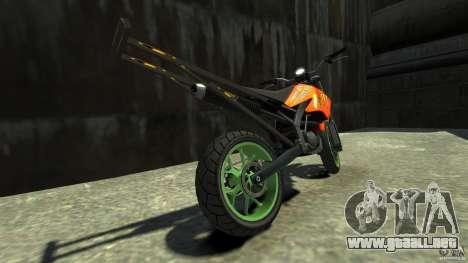 Stunt Supermotard Sanchez para GTA 4 Vista posterior izquierda