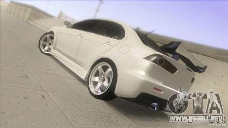 Mitsubishi Lancer Evo IX DIM para GTA San Andreas left