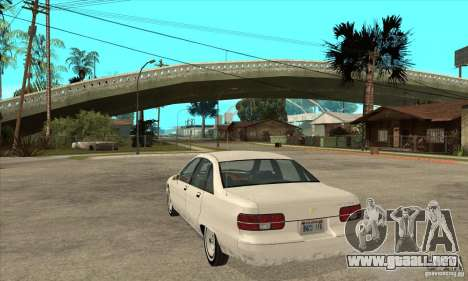 Chevrolet Caprice 1991 para GTA San Andreas vista hacia atrás