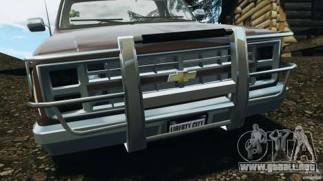 Chevrolet Silverado 1986 para GTA 4 interior