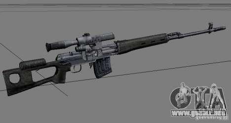 Un conjunto de armas de acosador V2 para GTA San Andreas segunda pantalla