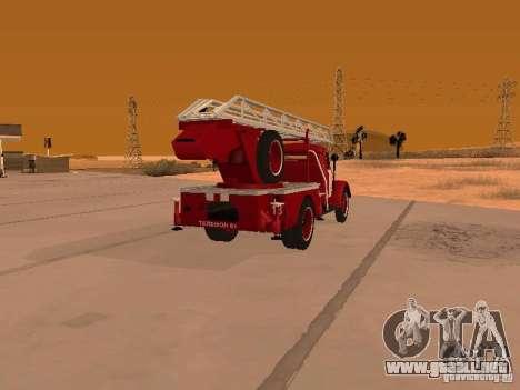GAZ-51 ALG-17 para GTA San Andreas vista posterior izquierda