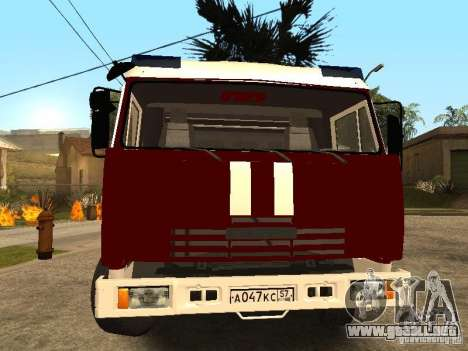 KAMAZ 43253 Rozenbauer para la visión correcta GTA San Andreas