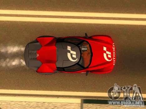 Citroen GT Gran Turismo para GTA San Andreas vista hacia atrás