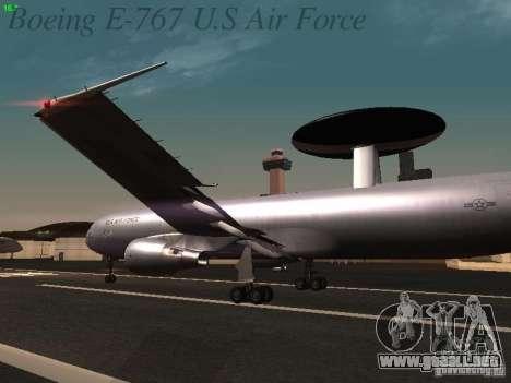 Boeing E-767 U.S Air Force para las ruedas de GTA San Andreas
