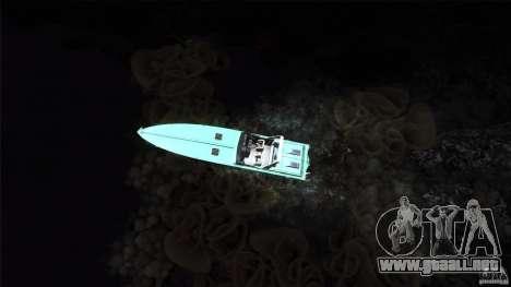 Wellcraft 38 Scarab KV para GTA San Andreas vista hacia atrás