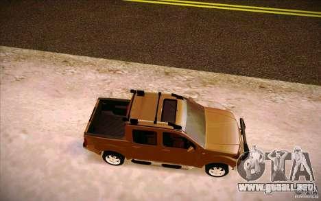 Nissan Fronter para GTA San Andreas vista hacia atrás