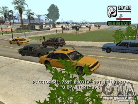 Tiempo real para GTA San Andreas segunda pantalla