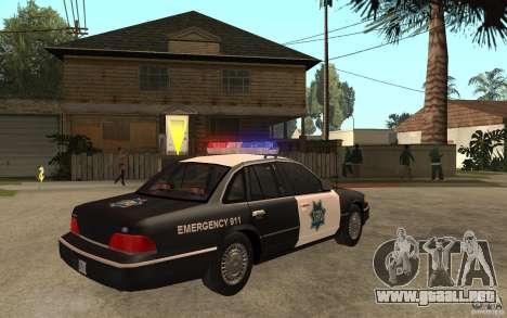 Ford Crown Victoria SFPD 1992 para la visión correcta GTA San Andreas