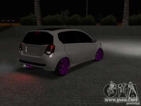 Chevrolet Aveo Tuning para GTA San Andreas vista hacia atrás