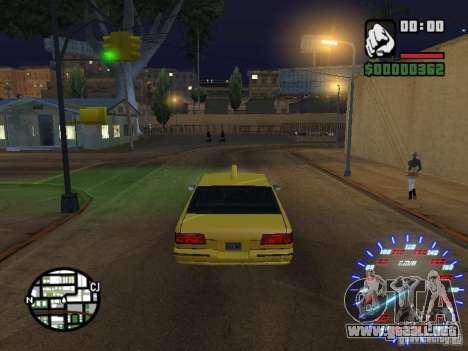 Neon Style Speedometr para GTA San Andreas segunda pantalla