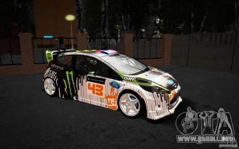 Ford Fiesta Gymkhana Four para visión interna GTA San Andreas