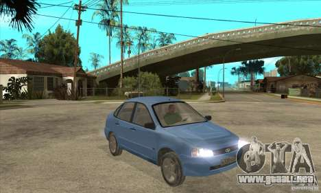 Kalina 1118 VAZ para GTA San Andreas interior