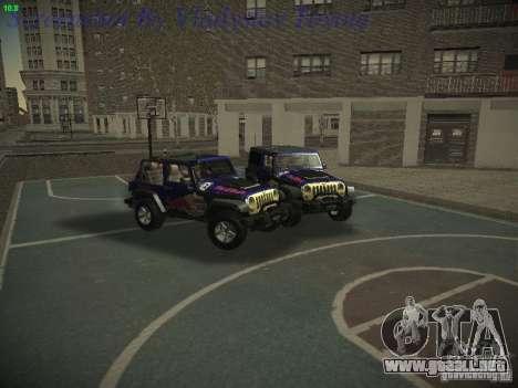 Jeep Wrangler Red Bull 2012 para la visión correcta GTA San Andreas