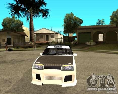 VAZ 2108 extrema para GTA San Andreas vista hacia atrás