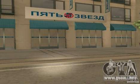 Servicio de parte de cinco estrellas y repuestos para GTA San Andreas sucesivamente de pantalla