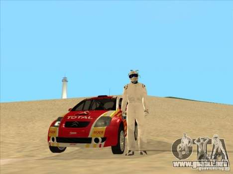 Citroen Rally Car para GTA San Andreas vista hacia atrás