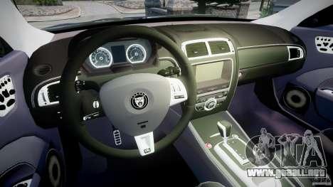 Jaguar XKR-S para GTA 4 vista hacia atrás