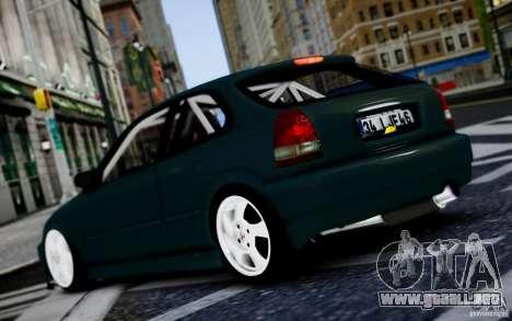Honda Civic 1.4iES HB 1999 para GTA 4 visión correcta