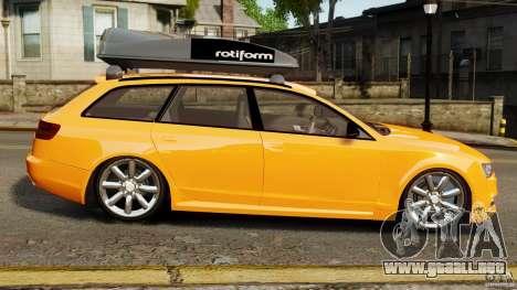 Audi A6 Avant Stanced 2012 v2.0 para GTA 4 left