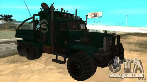 KrAZ 255 B1 Krazy-cocodrilo para visión interna GTA San Andreas
