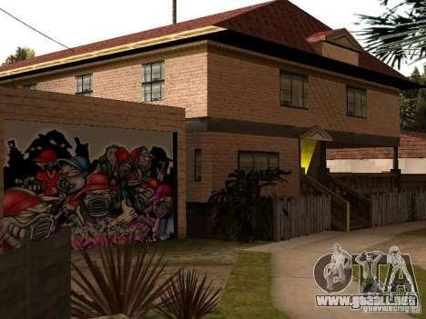 Nueva casa Cj para GTA San Andreas sucesivamente de pantalla