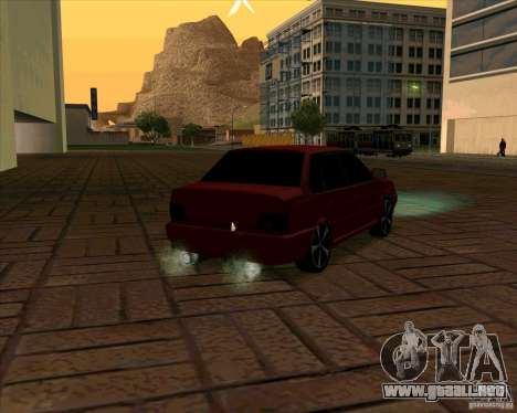 Vaz-2115 para GTA San Andreas vista posterior izquierda