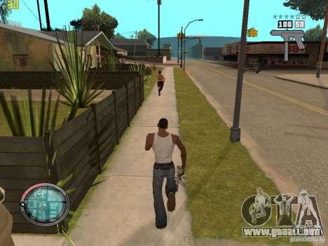 Además del HUD de GTA IV para GTA San Andreas quinta pantalla