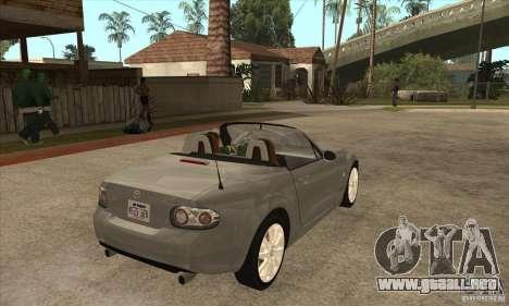 Mazda MX-5 2007 para la visión correcta GTA San Andreas