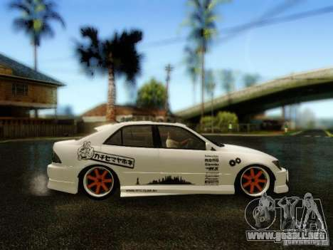 Lexus IS300 Jap style para la visión correcta GTA San Andreas