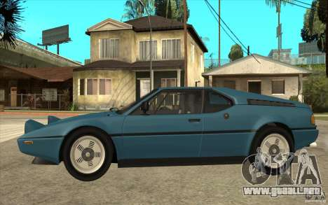 BMW M1 1981 para GTA San Andreas left