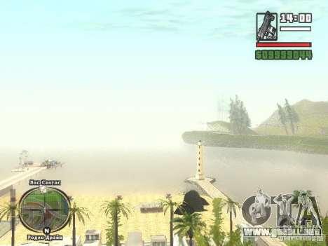 Nuevo Beach bar Verona para GTA San Andreas sucesivamente de pantalla