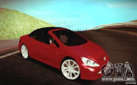 Peugeot 307CC BMS Edition para ordenadores portá para vista lateral GTA San Andreas