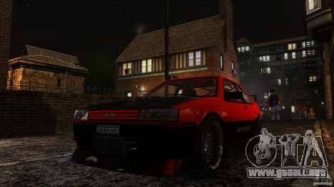 Futo GTRS para GTA 4 vista hacia atrás