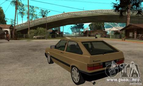 VW Gol GL 1.8 1989 para GTA San Andreas vista posterior izquierda